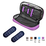 TAWA apollo walker Insulin Cooler Travel Case Diabetic Medication Cooler with 2 Ice Pack and Insulation Liner(Purple)