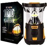 Internova 1000 LED Camping Lantern - Massive Brightness with Fully Adjustable 360 Arc Lighting - Emergency - Backpacking - Construction - Hiking - Auto - Home - College (Cadmium Orange)
