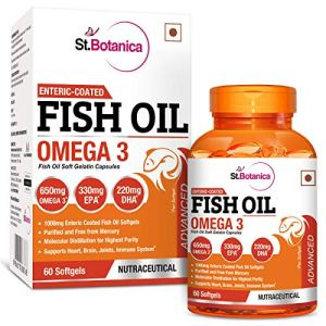 StBotanica Fish Oil 1000 mg (Double Strength) with 600 mg Omega 3-60 Softgels 23  StBotanica Fish Oil 1000 mg (Double Strength) with 600 mg Omega 3-60 Softgels 51f2KQCrUAL