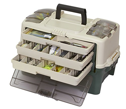 Plano 3113305 PLANO Tackle Systems Hybrid Hip 3 Tray Box, White/Green, Premium Tackle Storage