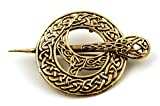 LynnAround Bronze Filigree Celtic Knot Irish Tara Pin and Brooches Vintage Norse Jewelry Thailand Made (2 in 1 Brooch & Pendant V.2)