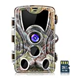Crenova 16MP 1080P HD Trail Camera with 32GB Micro Card Included Max up to 64GB Updated to 940nm IR LEDs and IP66 Waterproof Game Camera,Motion Activated Night Vision Perfect for Wildlife Observation