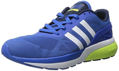 adidas NEO Men's Cloudfoam Flow Shoe,Blue/White/Yellow,9 M US