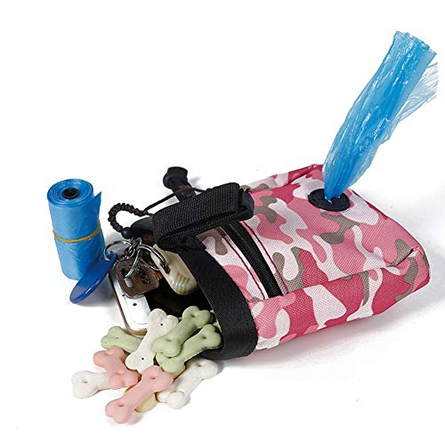 ZEEY Dog Treat Pouch Training Bag - Built in Poop Bag Dispenser with Adjustable Straps Outing Snack Bag Professional Training Dog Pocket 1