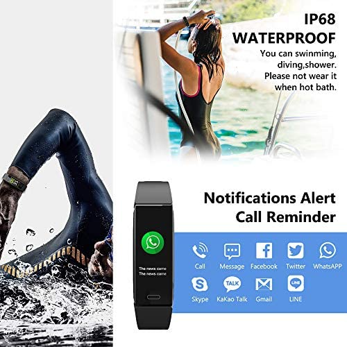 Mgaolo Fitness Tracker,2020 Version IP68 Waterproof Activity Tracker with Blood Pressure Heart Rate Sleep Monitor,10 Sport Modes Health Fit Smart Watch with Pedometer for Men Women 7