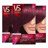 Vidal Sassoon Pro Series London Luxe Hair Color Kit, 4RV Mayfair Burgundy, 1 Count (Pack of 3)