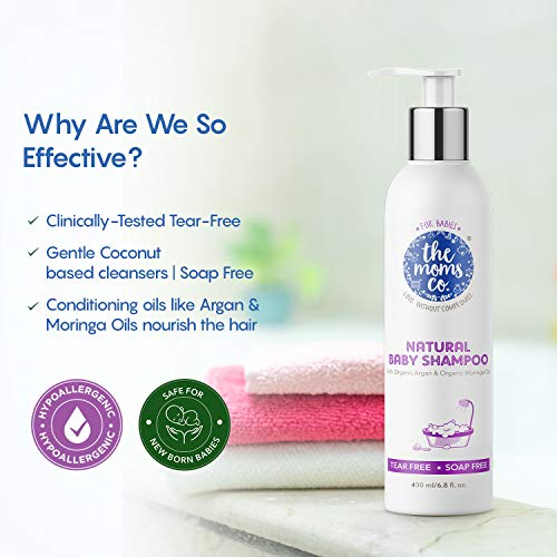 51fAUb0q2GL The Mothers Co. Tear-Free Pure Child Shampoo with USDA-Licensed Natural Argan and Moringa Seed Oils (400ml)