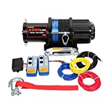 X-BULL 12V 4500LBS Synthetic Rope Electric Winch for Towing ATV/UTV Off Road with Mounting Bracket Wireless Remote Control