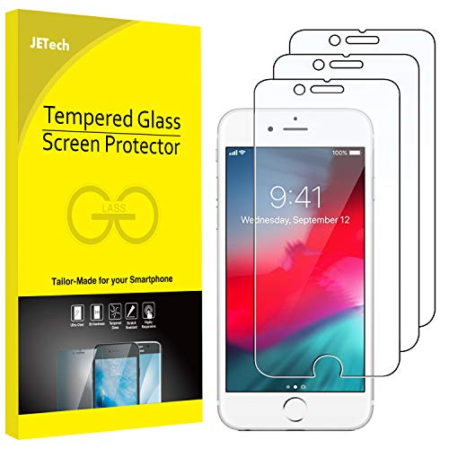 JETech 3-Pack Screen Protector for Apple iPhone 8, iPhone 7, iPhone 6s, and iPhone 6, Tempered Glass Film, 4.7-Inch