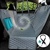 WINNER OUTFITTERS Dog Seat Cover with View mesh, Pet Seat Cover with Zipper and Pockets Dog Car Seat Covers for Cars, Trucks, and Suv's - Gray, Waterproof & Nonslip Backing(mesh View)