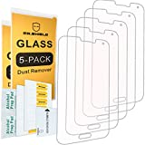[5-Pack]- Mr Shield for Samsung Galaxy S5 [Tempered Glass] Screen Protector [0.3mm Ultra Thin 9H Hardness 2.5D Round Edge] with Lifetime Replacement