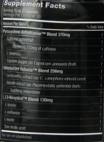 Hydroxycut Hardcore Weight Loss and Energy Supplement, Delivers Extreme Energy & Maximum Intensity, 60 Count 7