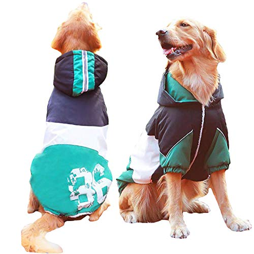 FLAdorepet Army Green Winter Warm Big Large Dog Pet Clothes Hoodie Fleece Golden Retriever Dog Cotton Padded Jacket Coat Clothing for Dog 1