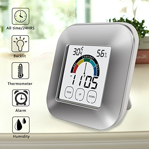 Digital-Hygrometer-Monitor-Indoor-Thermometer-Boyko-Pro-Accuracy-Smart-Humidity-Temperature-Gauge-with-Touchscreen-Backlight-Timer-Alarm
