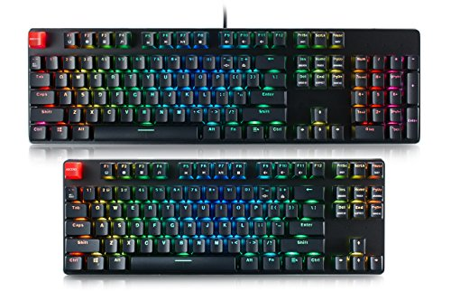 Glorious Modular Mechanical Gaming Keyboard - Full Size (104 Key) - RGB LED Backlit, Brown Switches, Hot Swap Switches (Black)(GMMK-BRN)