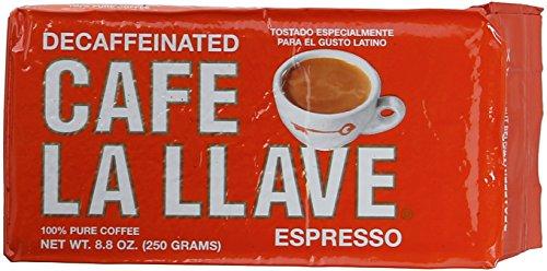 Café La Llave Decaf Espresso Dark Roast, 8.8-Ounce