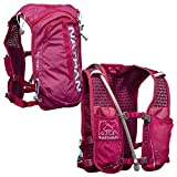Nathan TrailMix Running Vest/Hydration Pack. 7L (7 Liters) for Men and Women | 2L Bladder Included (2 liters). Zipper, Phone Holder, Water (Sangria/Magenta Purple/Sky Blue, One Size Fits Most)
