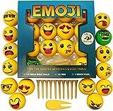 Emoji Golf Balls Deluxe Gift - Golf Gifts for Men, Women, Children - Gag Gift for The Golf Fan who has Everything Deluxe (14 Golf Balls, Fun)