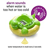AQUATOPIA Floating Safety Bath Thermometer for Infants, Digital Audible Alarm, Beeps When Too hot or Too Cold! (Purple)
