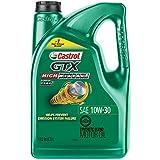 Castrol 03110 GTX High Mileage 10W-30 Synthetic Blend Motor Oil, 5 Quart