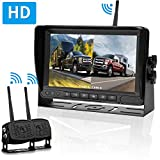 LeeKooLuu HD Digital Wireless Dual Backup Camera 7'' Monitor Split Screen Highway Observation System for Travel Trailers/RVs/Pickup/Trucks/Motorhome IP69K Waterproof Super Night Vision