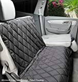4Knines Dog Seat Cover with Hammock for Fold Down Rear Bench SEAT 60/40 Split and Middle seat Belt Capable - Heavy Duty -Black Extra Large - for Full Size Trucks and Large SUVs - USA Based Company