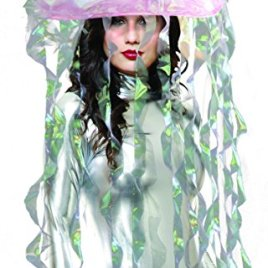 Light Up Jellyfish Costume Headware, Iridescent