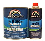 SpeedoKote SMR-115/150-K-M - Low Gloss 2.1 VOC urethane clear coat, gallon kit Clearcoat with medium speed activator