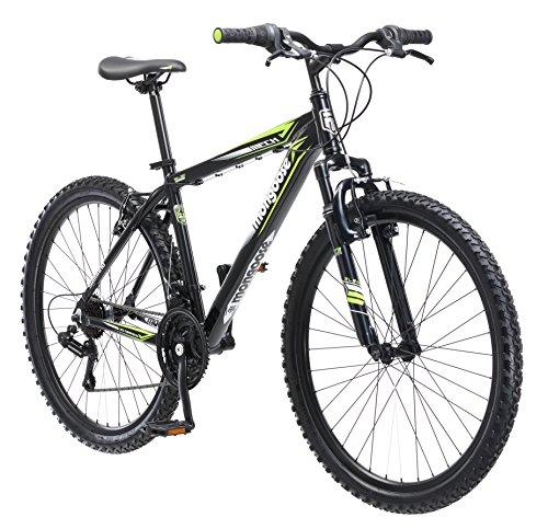 Mongoose Men's Mech Mountain Bicycle, 18'/Medium, Black