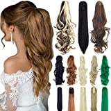 18' 21' Straight Curly Synthetic Clip in Claw Ponytail Hair Extension Synthetic Hairpiece 150g with a jaw/Claw Clip