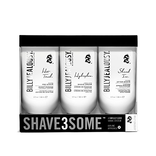 51fXHDQlWFL Hot towel pre-shave treatment warms, softens and conditions beard Hydroplane shave cream protects skin while yielding excellent razor glide billy jealousy's #1 selling product Shaved ice after-shave balm cools, soothes, comforts and moisturizes post-shave skin
