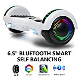 zuukoo Hoverboard, Self Balancing Scooter 6.5' Electric Scooter with Inlay Type Light-Emitting Motor and Handbag for Kids Adults, UL Certified Hoverboard, White