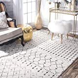 nuLOOM Moroccan Blythe Area Rug, 5' x 7' 5', Grey/Off-white