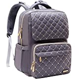 Diaper Bag Backpack, Bamomby Multi-Function Waterproof Travel Backpack Nappy Bags for Mom,Dad with Insulated Pockets, Changing Pad, Stroller Straps for Boys,Girls-Grey