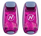 LED Safety Light (2 Pack) + Free Bonuses   Clip On Strobe/Running Lights for Runners, Dogs, Bike, Walking   The Best High Visibility Accessories for Your Reflective Gear, Bicycle etc (Pink)