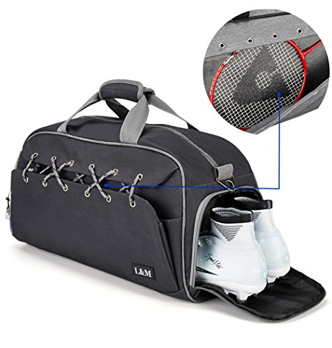 56bd30be1a9d Sport Gym Duffle Travel Bag for Men Women with Shoe Compartment, Wet ...