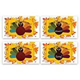 My Scratch Offs Thanksgiving Turkey Scratch Off Family Game Card - 25 Pack