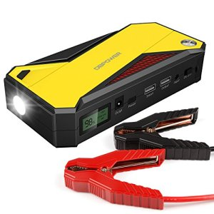 DBPOWER 600A Peak 18000mAh Portable Car Jump Starter (up to 6.5L Gas, 5.2L Diesel Engine) Battery Booster and Phone Charger with Smart Charging Port