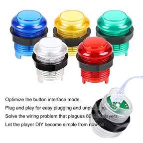 EG-STARTS-2-Player-Arcade-Games-DIY-Kit-Parts-2-Ellipse-Oval-Joystick-Handles-20-LED-lit-Arcade-Buttons-Red-Blue-Kit