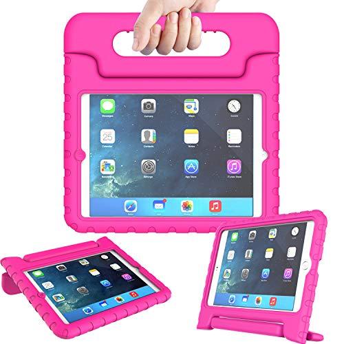 AVAWO Kids Case for iPad Mini 1 2 3 - Light Weight Shock Proof Handle Stand Kids for iPad Mini, iPad Mini 3rd Generation, iPad Mini 2 with Retina Display - Rose