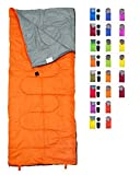 REVALCAMP Lightweight Orange Sleeping Bag Indoor & Outdoor use. Great for Kids, Youth & Adults. Ultralight and Compact Bags are Perfect for Hiking, Backpacking, Camping & Travel.