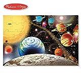Melissa & Doug Solar System Floor Puzzle (Floor Puzzles, Easy-Clean Surface, Promotes Hand-Eye Coordination, 48 Pieces, 36' L x 24' W)