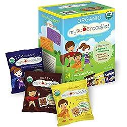 MySuperCookies Organic Whole Grain Cookies, Variety Pack, 1oz, 24 Count
