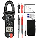 Digital Clamp Meter Multimeters MESTEK AC DC Multimeter Current Voltage Voltmeter Autoranging Electric Tester Ohm Hz Amp Volt Diode Resistance 6000 Counts NCV VFC Accurate HVAC Electric Test Kit
