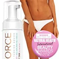 NYK1 Tan Force Sunless Self Tanning Mousse - Salon Quality Streak Free Tan Foam Tanning Oil and Self Tanner - Natural Look Dry Golden Bronzer Cream - 250ml
