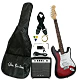 Glen Burton GE101BCO-RDS  Electric Guitar Stratocaster-Style Combo with Accessories and Amplifier, Redburst