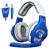 SADES WCG Universal Gaming Headset with Mic - Blue/White
