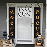 ORIENTAL CHERRY Halloween Decorations Outdoor - Hocus Pocus Porch Sign - Witch Décor Banners for Party Yard Wall Outside Door Classroom Office