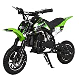 49CC 2-Stroke Gas Power Mini Dirt Bike,Pit Bike Dirt Off Road Motorcycle, Scooter (Green)