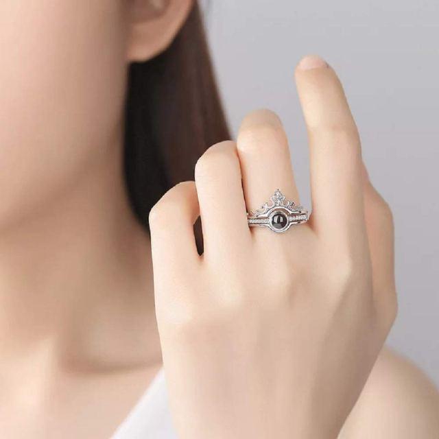 100 Languages I Love You Adjustable Ring